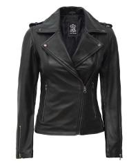 Black Moto Leather Jacket Women