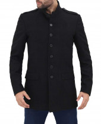 Mens 3 4 Length Wool Coat