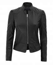 Womens stand up collar jacket