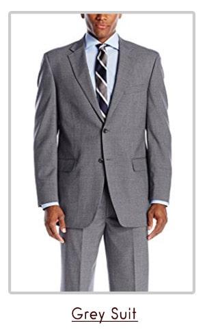 grey classic suit