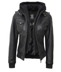 Hooded Bomber Jacket Women