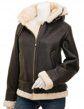 Shearling Leather Jacket Womens