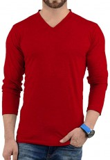 plain red shirt men