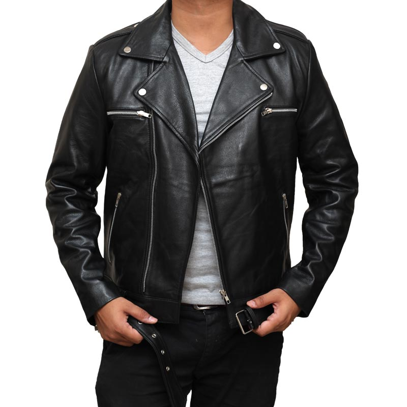 The Walking Dead Negan Jacket Black Motorcycle