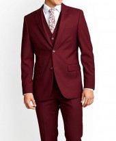 Maroon Mens Suit