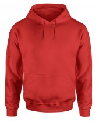 red mens pullover hoodie