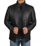 Mens Leather Black Jacket
