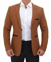 Wool Mens Brown Blazer