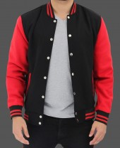 Black and Red Varsity Jacket