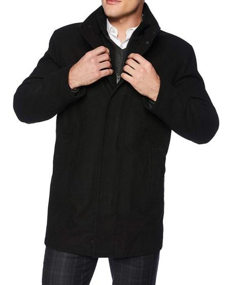 Black Wool 3 4 Length Coat