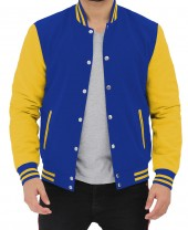 Royal Blue and Yellow Varsity Jacket