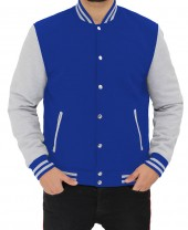 Blue and Grey Varsity Jacket