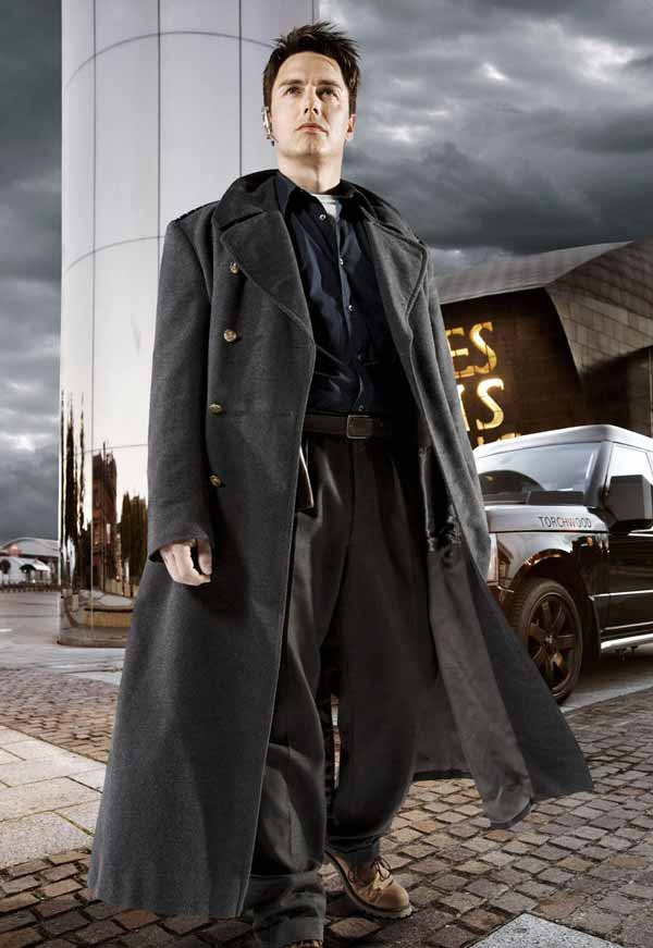 Doctor Who John Barrowman Captain Jack Harkness Long Trench Wool Coat