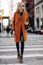 Brown Wool Coat Womens