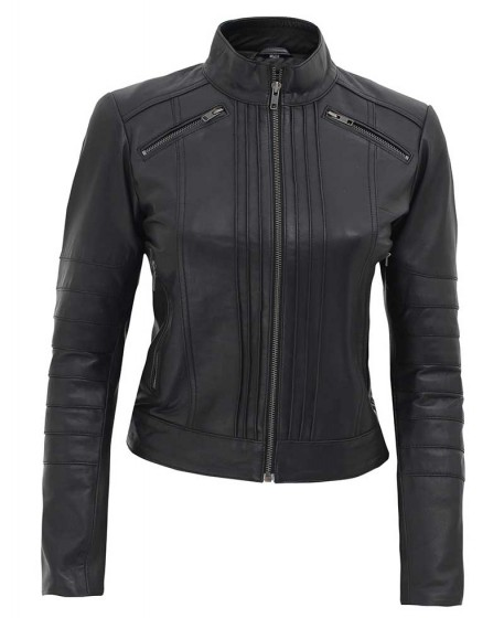 Womens Quilting Leather Jacket