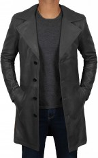 long black leather coat