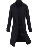 Mens Long Wool Overcoat