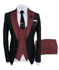 Mens Burgundy Prom Tuxedo