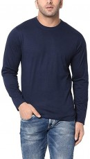 mens plain navy shirt