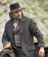 Cullen Bohannon Hell On Wheels Black Cotton Coat