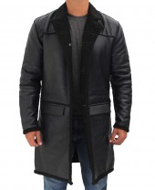 Black Shearling Coat Mens