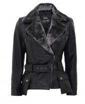 Black Shearling Jacket Womens