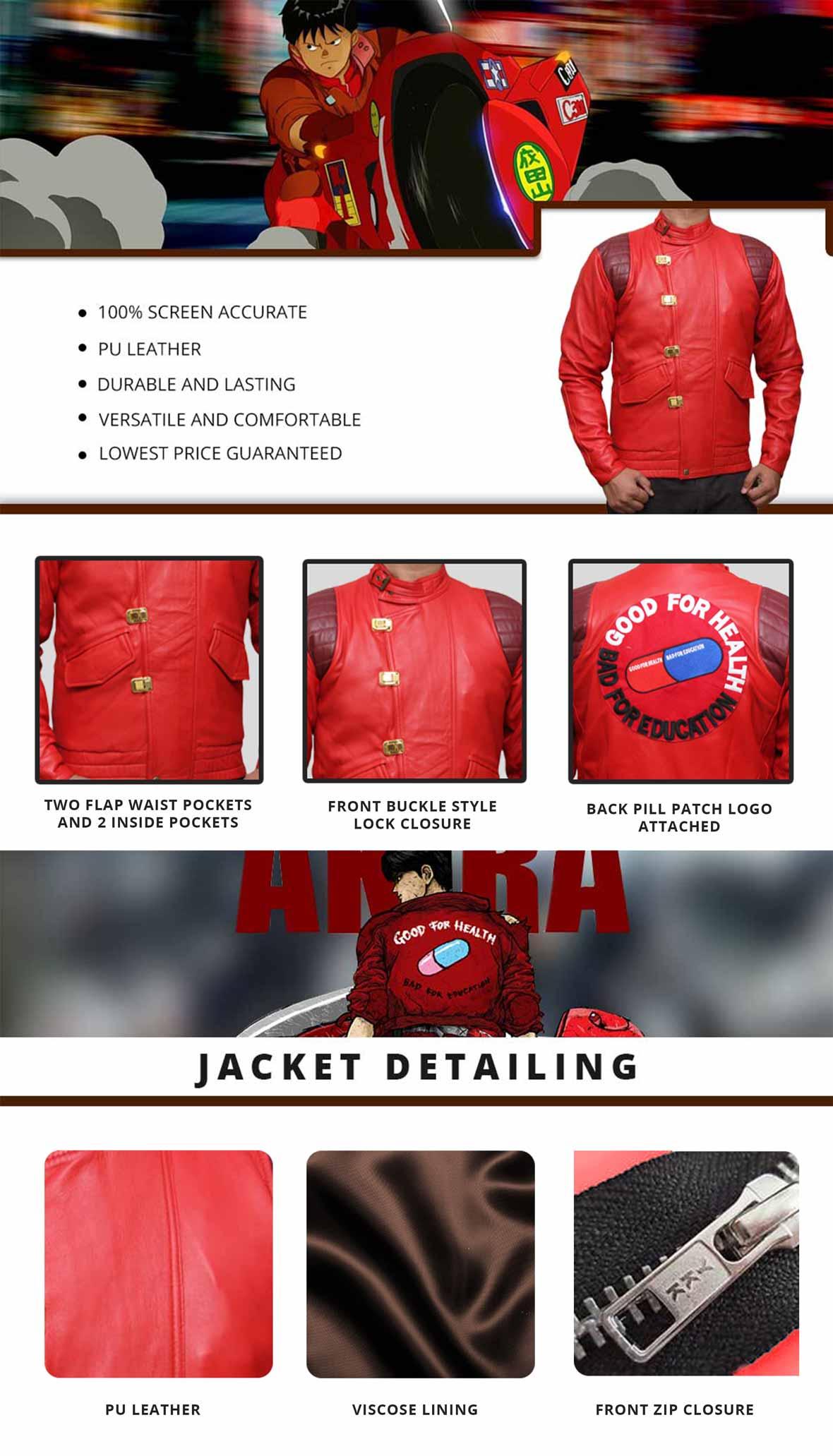 Akira Jacket Infographics