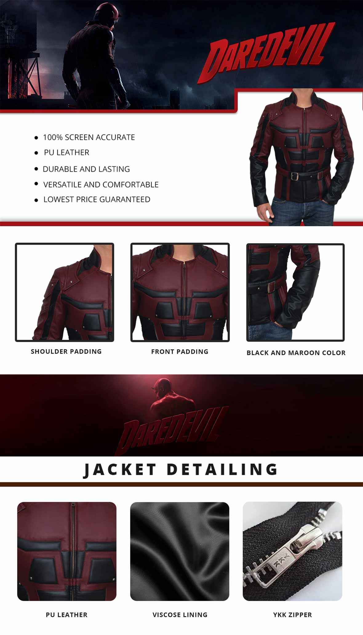 Daredevil Jacket Infographics