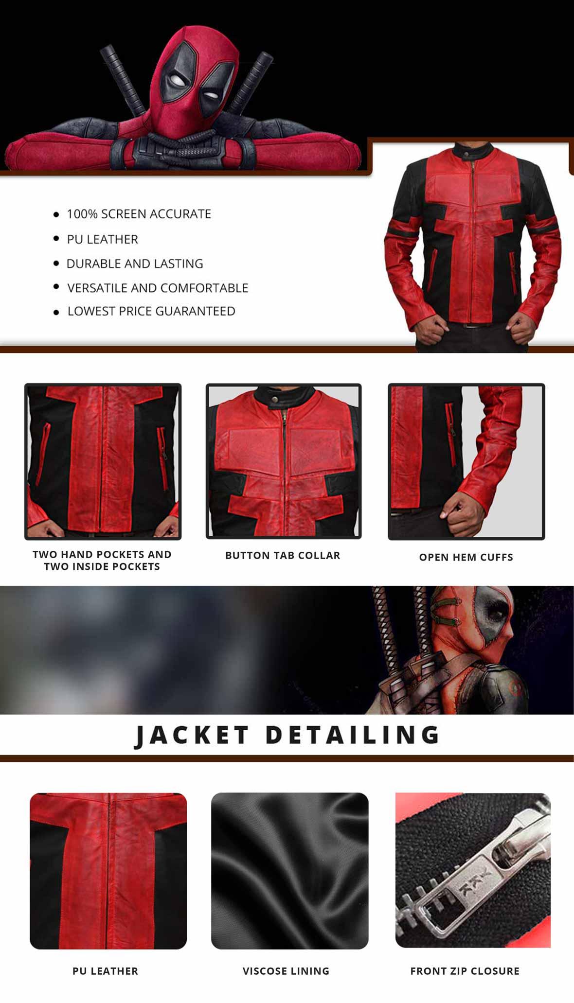 Deadpool Jacket Infographics