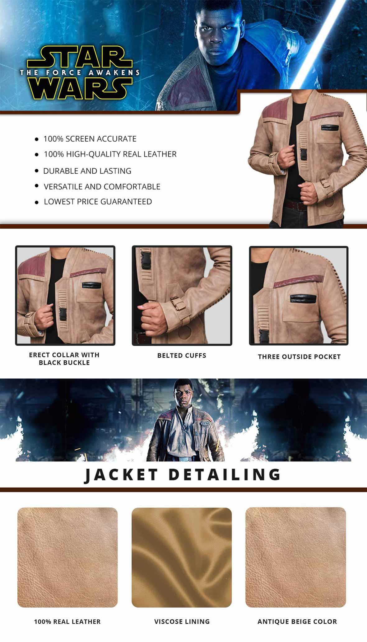 Finn Jacket Infographics