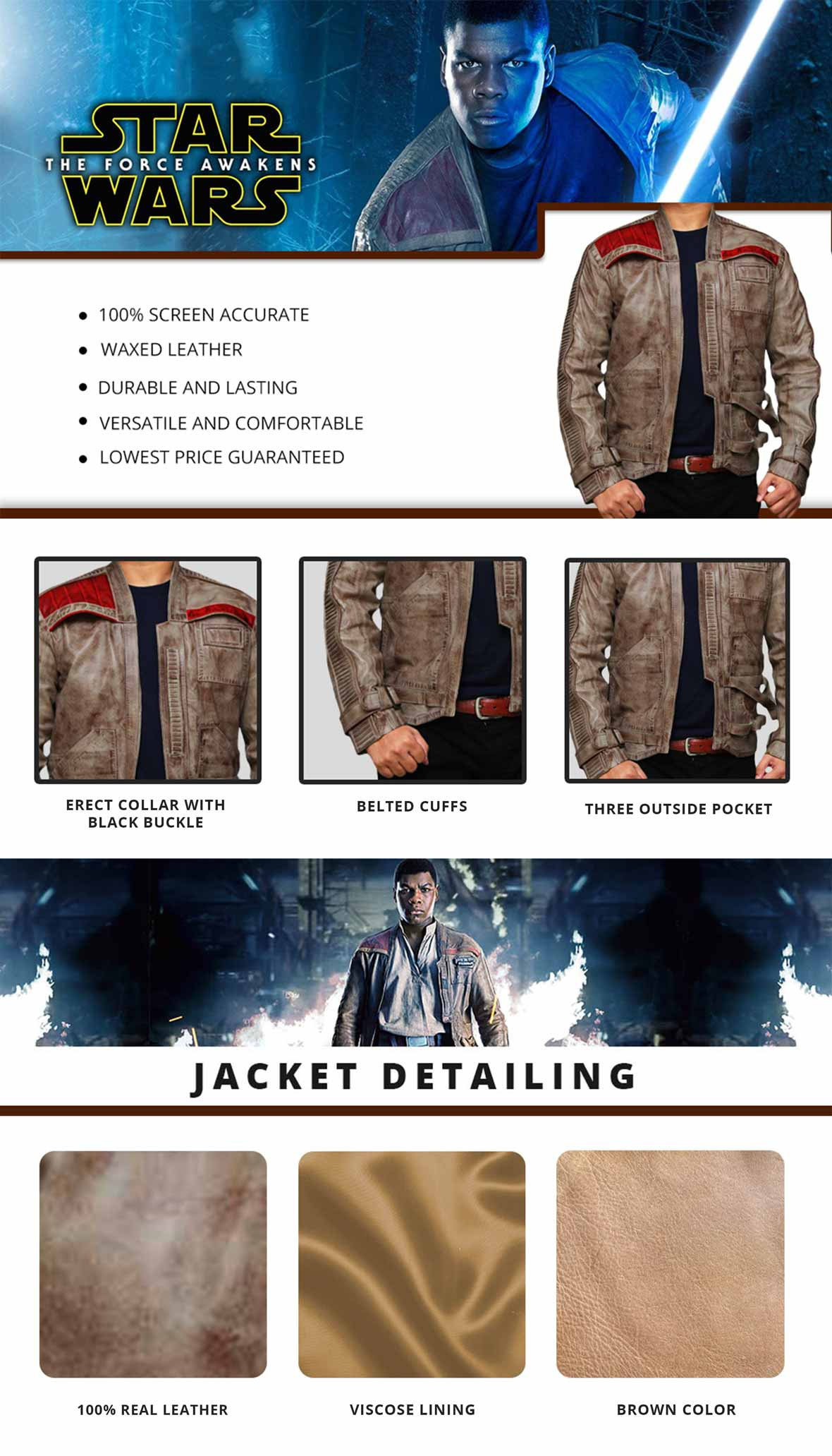 Finn Jacket Infographics