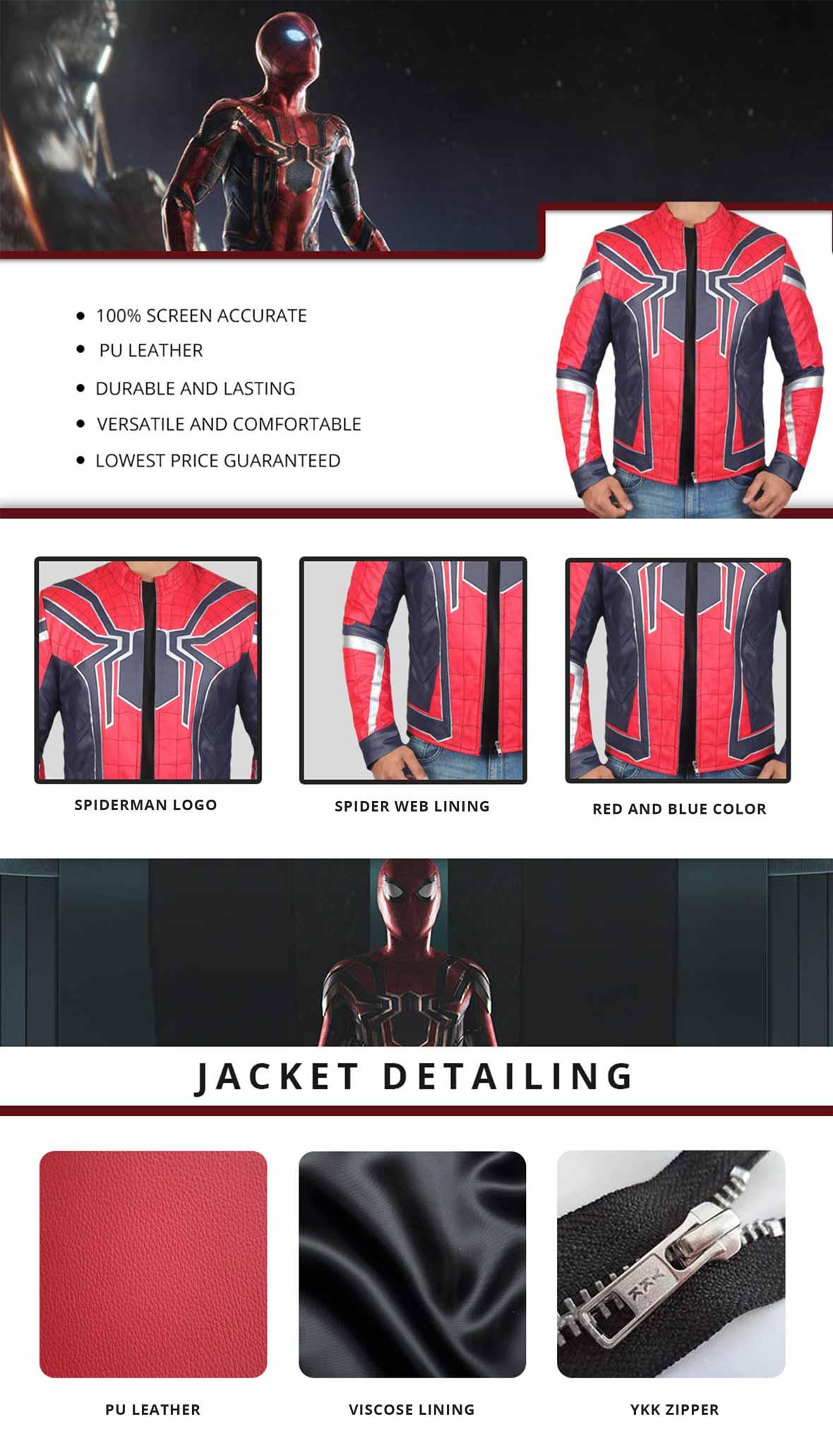 Spiderman Jacket Infographics