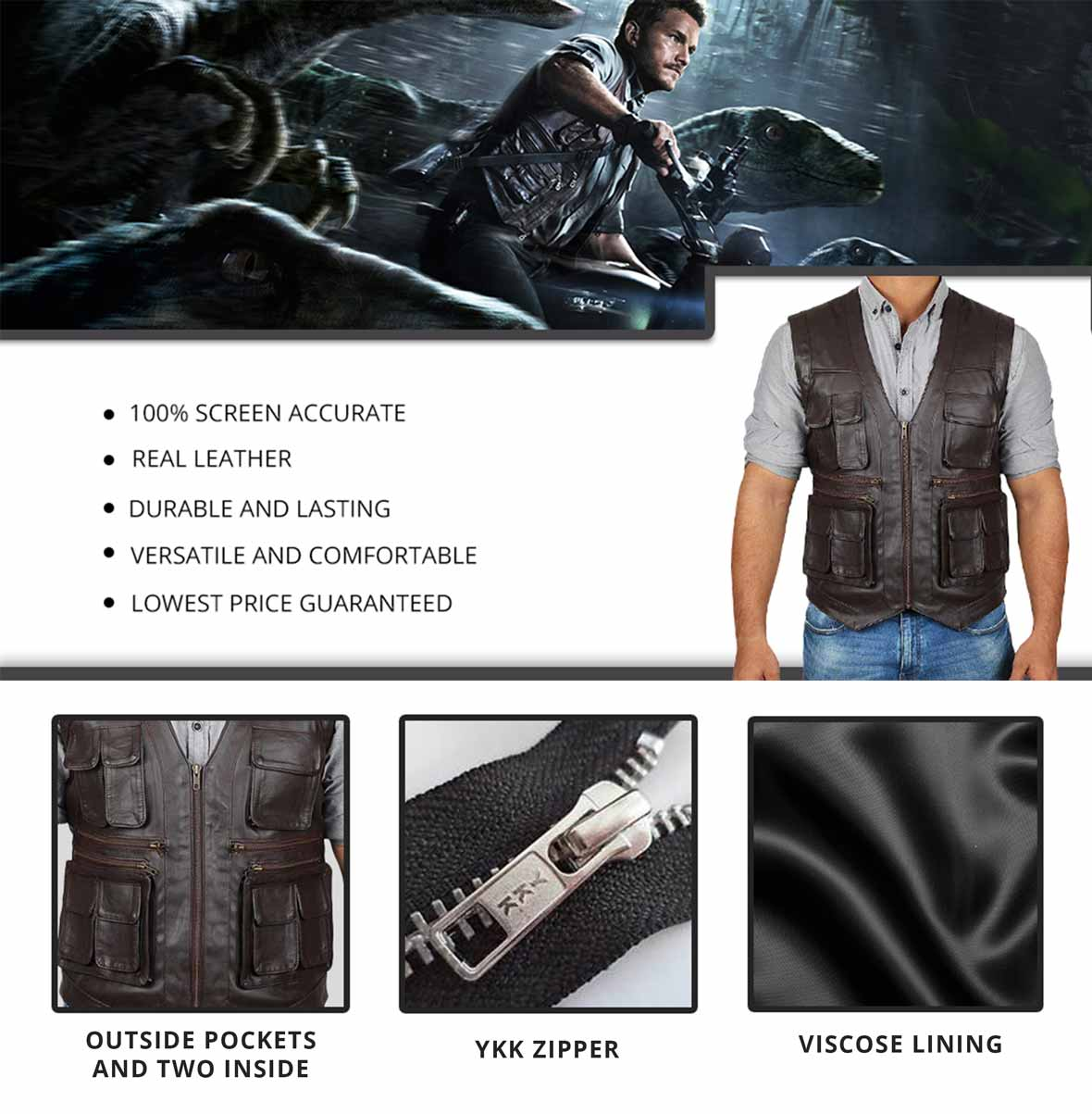 Chris Pratt Vest Infographics