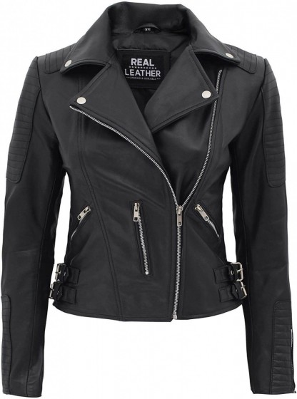 Womens Leather Black Jacket
