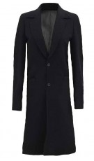 Black Wool Trench Coat Womens