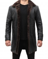 3 4 Length Leather Coat