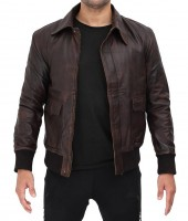 Brown Leather Lambskin Jacket