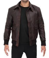 Brown Leather Lambskin Jacket