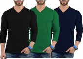 Mens Long Sleeves T Shirts Pack of 3