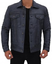 Mens Grayish Blue Jacket
