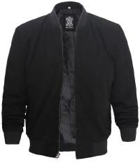 black suede leather bomber jacket