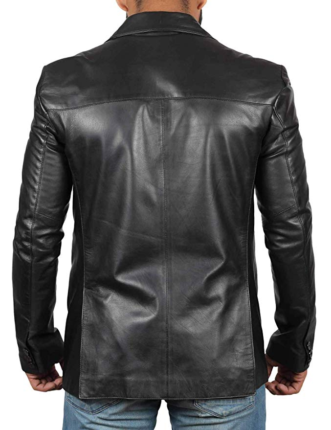 7837ef68e19c Mens Black Leather Blazer | Jacket