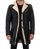 Shearling Leather Coat 3 4 Length