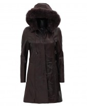 Dark Brown Coat Womens