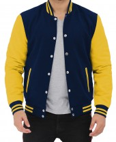 Blue and Yellow Varsity Jacket