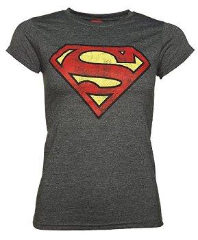 Distressed Superman Logo T Shirt