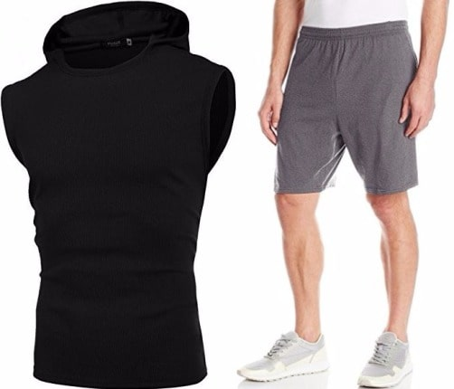 sleeveless shirt combination
