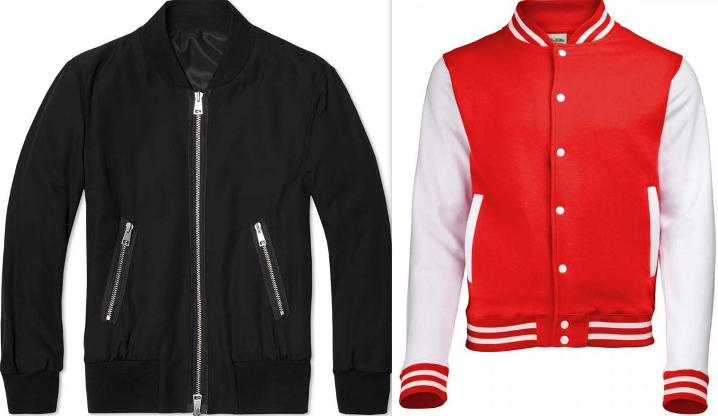 letterman jackets vs bomber jackets