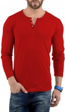 Henley Shirt Red