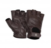 Leather Moto Dark Brown Gloves